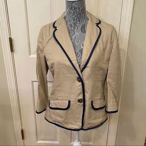 American Eagle khaki blazer 3/4 sleeves